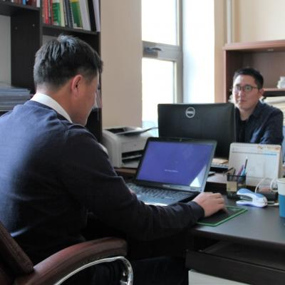 The office for Projects Abroad's Human Rights internships in Mongolia.